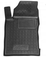 Коврик в салон водительский для Peugeot 605 '88-99 резиновый, черный (AVTO-Gumm)