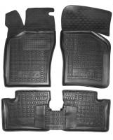 Коврики в салон для Opel Vectra A '88-95 резиновые, черные (AVTO-Gumm)