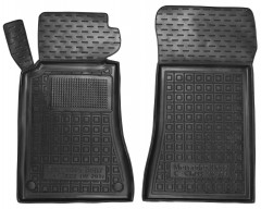 Коврики в салон передние для Mercedes C-Class W203 '00-07 резиновые, черные (AVTO-Gumm)