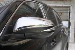 Фото 1 - Накладки на зеркала для Toyota Camry V50/55 2011 - 2017, хром, V1 (ASP)