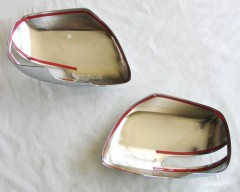 Фото 2 - Накладки на зеркала для Toyota Land Cruiser 200 '07-, хром, цельные (ASP)