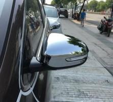 Фото 1 - Накладки на зеркала для Kia Sportage 2016-, хром, цельные (ASP)