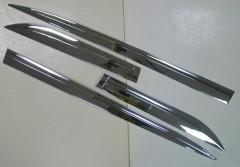 Фото 2 - Накладки (молдинги) на дверь для Toyota Highlander '14-,  хром,  ABS V1 (ASP)