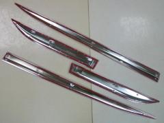 Фото 3 - Накладки (молдинги) на дверь для Toyota Highlander '14-,  хром,  ABS V1 (ASP)
