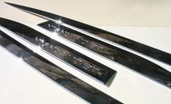 Накладки (молдинги) на дверь для Toyota Highlander '14-,  хром,  ABS V0 (ASP)
