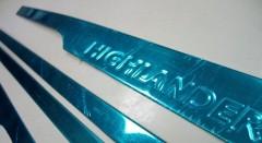 Накладки (молдинги) на дверь для Toyota Highlander '14-, хром, SS V3 (ASP)
