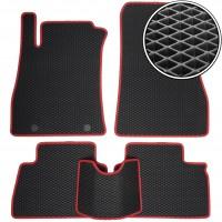 Коврики в салон для Nissan Juke '11-, EVA-полимерные, черные с красной тесьмой (Kinetic)