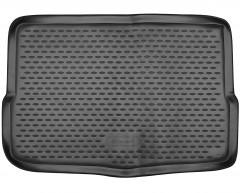 Коврик в багажник для Renault Kadjar '15-, нижний, полиуретановый (Novline / Element) черный