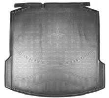 """Коврик в багажник для Skoda Rapid '13- полиуретановый, без """"ушей"""" (Nor-Plast)"""