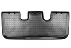 Коврик в салон для Toyota Fortuner '15- полиуретановый, черный, 3 ряд (Nor-Plast)