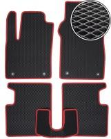 Коврики в салон для Fiat 500 '08-, EVA-полимерные, черные с красной тесьмой (Kinetic)
