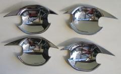 Накладки под дверные ручки для Mitsubishi Outlander '12-, хром, тип А (ASP)