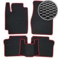 Коврики в салон для Toyota Camry V20 1997 - 2001, EVA-полимерные, черные с красной тесьмой (Kinetic)