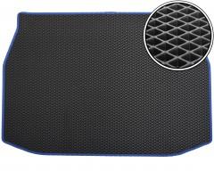 Коврик в багажник для Toyota C-HR '16-, EVA-полимерный, черный с синей тесьмой (Kinetic)