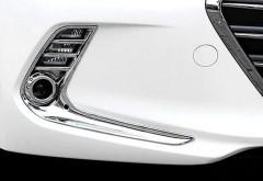Накладки на противотуманные фары для Hyundai Elantra AD '16-, передние, хром (ASP)