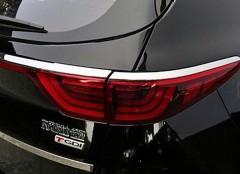Накладки на задние фары для Kia Sportage 2016 -, хром, верхние (ASP)