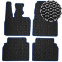 Коврики в салон для BMW i3 '13-, EVA-полимерные, черные с синей тесьмой (Kinetic)