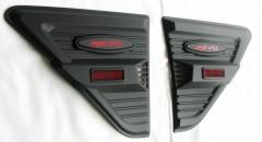 Накладки на передние крылья для Toyota Hilux '15-, черные (ASP)