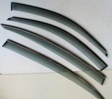 Дефлекторы окон для BMW 3 F30 '12-, с хром. молдингом (ASP)