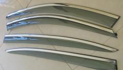 Дефлекторы окон для BMW 5 F10 / 11 '10-16-, с хром. молдингом (ASP)