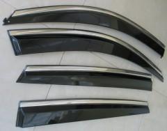 Дефлекторы окон для BMW X6 E71 '08-14, с хром. молдингом (ASP)