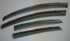 Дефлекторы окон для Ford Fiesta '09-17, с хром. молдингом (ASP)