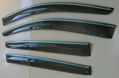 Дефлекторы окон для Chevrolet Aveo '11- T300, с хром. молдингом (ASP)