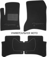 Коврики в салон для Porsche Panamera '16-текстильные, черные (Люкс) 4 клипсы