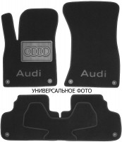 Коврики в салон для Audi A8 '94-02текстильные, черные (Люкс) 4 клипсы