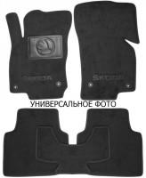 Коврики в салон для Skoda Fabia III '15-текстильные, черные (Люкс) 4 клипсы
