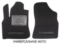 Коврики в салон для Citroen Jumpy '16- 1+2, передние текстильные, черные (Люкс) 2 клипсы