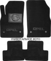 Коврики в салон для Opel Zafira B '05-13 3 ряда текстильные, черные (Люкс) 4 клипсы