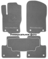 Коврики в салон для Mercedes GLK-Class X204 '13-15текстильные, серые (Люкс) 4 клипсы