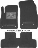 Коврики в салон для Chevrolet Bolt '16-текстильные, серые (Люкс) 2 клипсы