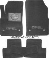 Коврики в салон для Opel Zafira B '05-13, 3 ряда текстильные, серые (Люкс) 4 клипсы