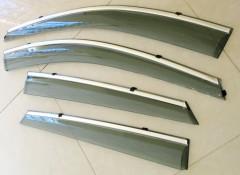 Дефлекторы окон для Hyundai ix-35 '10-15, с хром. молдингом (ASP)