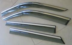 Дефлекторы окон для Skoda Octavia A5 '05-13, с хром. молдингом (ASP)