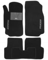 Коврики в салон для Peugeot 406 '95-04 текстильные, черные (Стандарт)