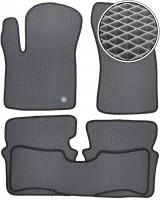 Коврики в салон для Dodge Avenger '07-13, EVA-полимерные, серые с черной тесьмой (Kinetic)
