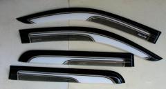 Дефлекторы окон для Toyota Hilux '15-, двухцветные (ASP)