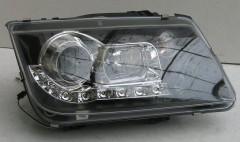 Передние фары для Volkswagen Bora '99-05, черные (ASP)