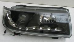 Фото 2 - Передние фары для Volkswagen Passat B4 '93-96, черные (ASP)