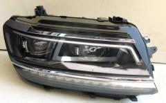 Фото 1 - Передние фары для Volkswagen Tiguan L '16-, черные (ASP)