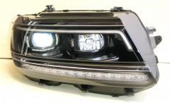 Фото 2 - Передние фары для Volkswagen Tiguan L '16-, черные (ASP)
