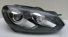 Фото 1 -  Передние фары для Volkswagen Golf VI '09-12, черные (ASP)
