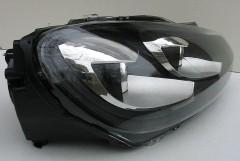 Фото 2 -  Передние фары для Volkswagen Golf VI '09-12, черные (ASP)