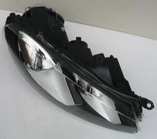 Фото 3 -  Передние фары для Volkswagen Golf VI '09-12, черные (ASP)