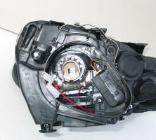 Фото 6 -  Передние фары для Volkswagen Golf VI '09-12, черные (ASP)