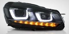 Передние фары для Volkswagen Golf VI '09-12, стиль Golf7 (ASP)