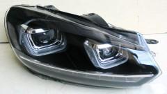 Фото 3 - Передние фары для Volkswagen Golf VI '09-12, стиль Golf7 (ASP)